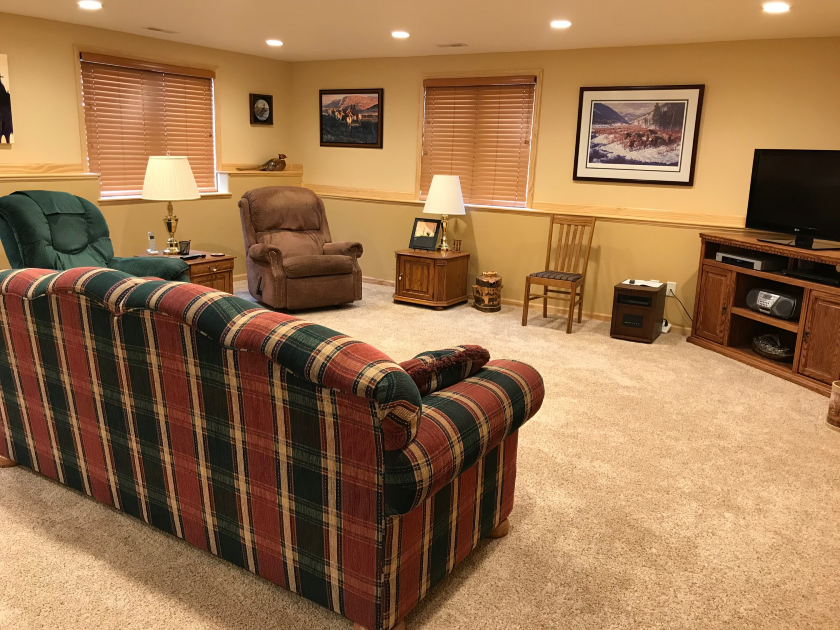 Basement Entertainment Room, Private Home | Spearfish SD
