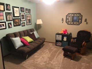 GingerSnap Home Basement Sitting Room with Futon - Sturgis SD