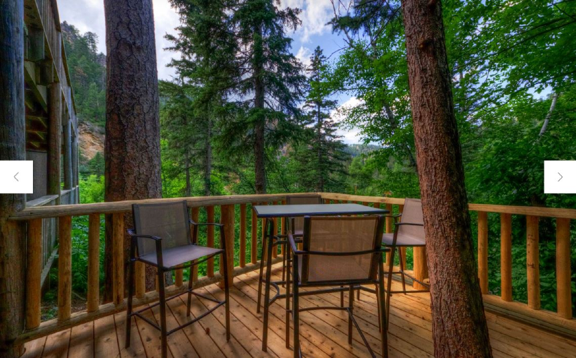 Marcus Edgerton Suite Deck - Rim Rock Lodge - Spearfish Canyon SD