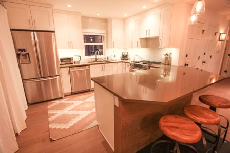 Brand new gourmet kitchen with high-end stainless appliances, fully equipped
