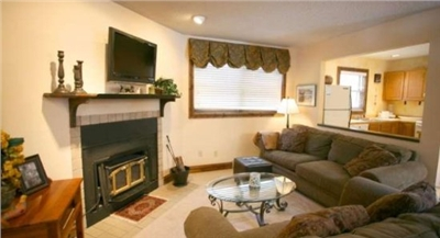 Living Area, Flat Screen TV, DVD Player, Wood Burning Stove