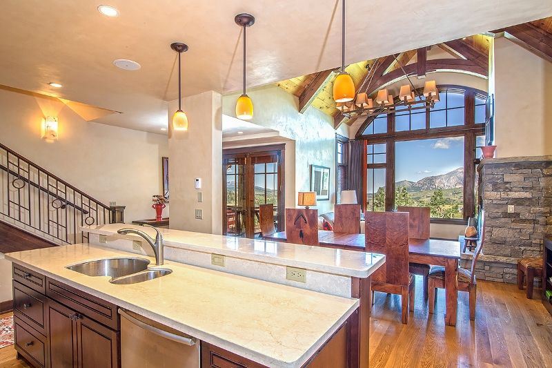 Courcheval E - Gourmet Kitchen open to dining and living areas, fabulous views