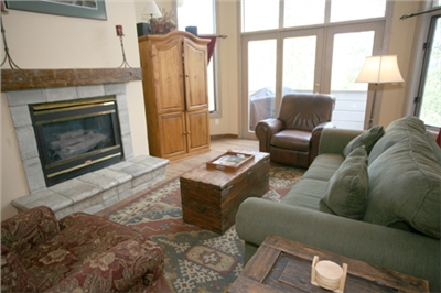 Living Area - TV - Gas Fireplace