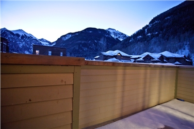 Private Deck - Sunrise View of Box Canyon - Ajax, Telluride and Ballard Peaks