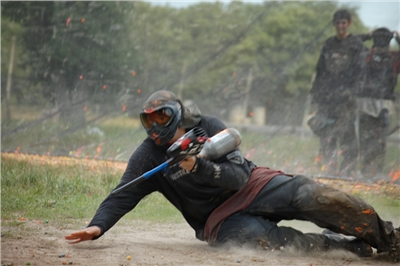 Paintball in action!