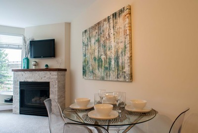 Open plan living and dining are for 4 Whistler Blackcomb rentals