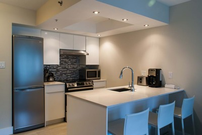 Full modern kitchen Whistler Condo
