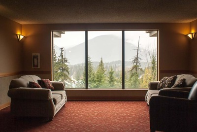 Level 5 common area with mountain views Marquise on Blackcomb holiday rental