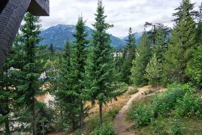 View from the deck: Rainbow Mountain (Whistler West)