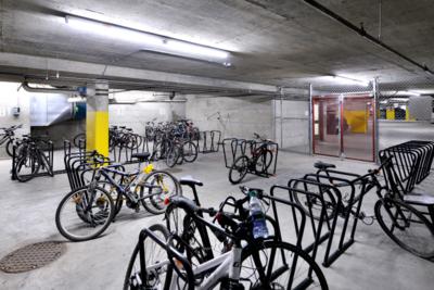 Aspens lodge: bike lockers (Parking level 1 & 2)
