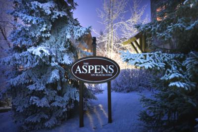 Aspens lodge: ski in / ski out path