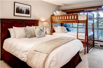 Second Bedroom with Queen Bed and Twin Bunks