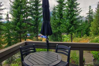 Private deck with BBQ