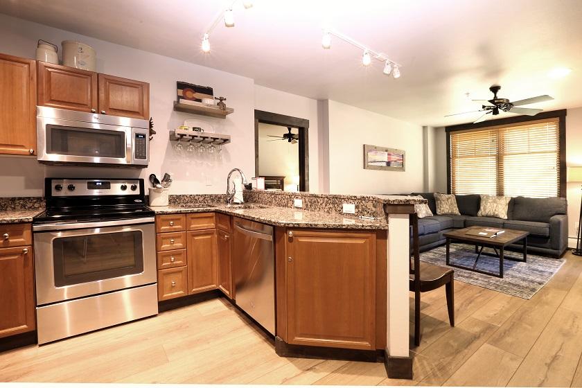 Platinum Kitchen and Living Room