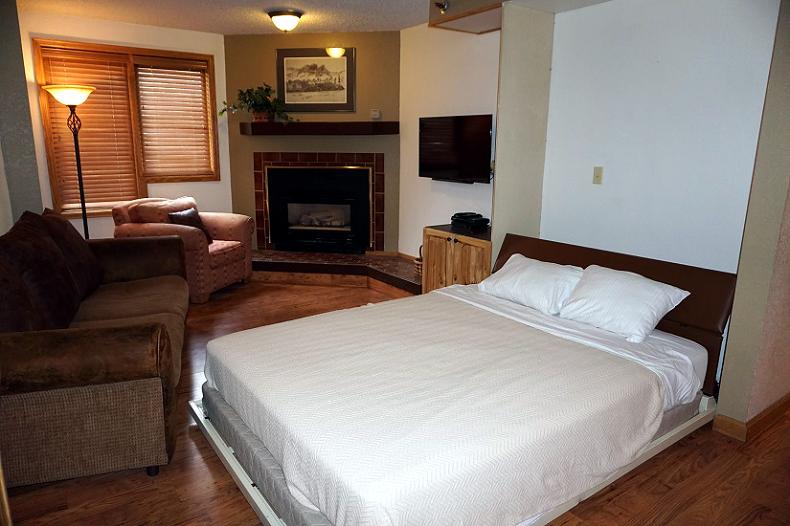 Living Area w/Queen Murphy Bed