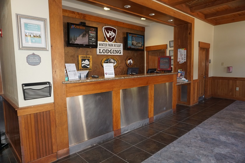 Check-in is located at Zephyr Mountain Lodge