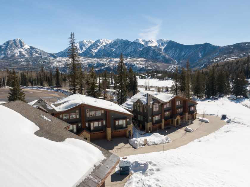 The Alpenglow townhomes offer spectacular views of the Needles Mountains.