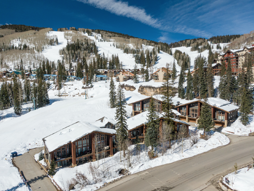 The Alpenglow townhomes place you next to the slopes at Purgatory Resort.