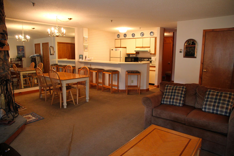 Typical open living area in 2 bedroom OberTal