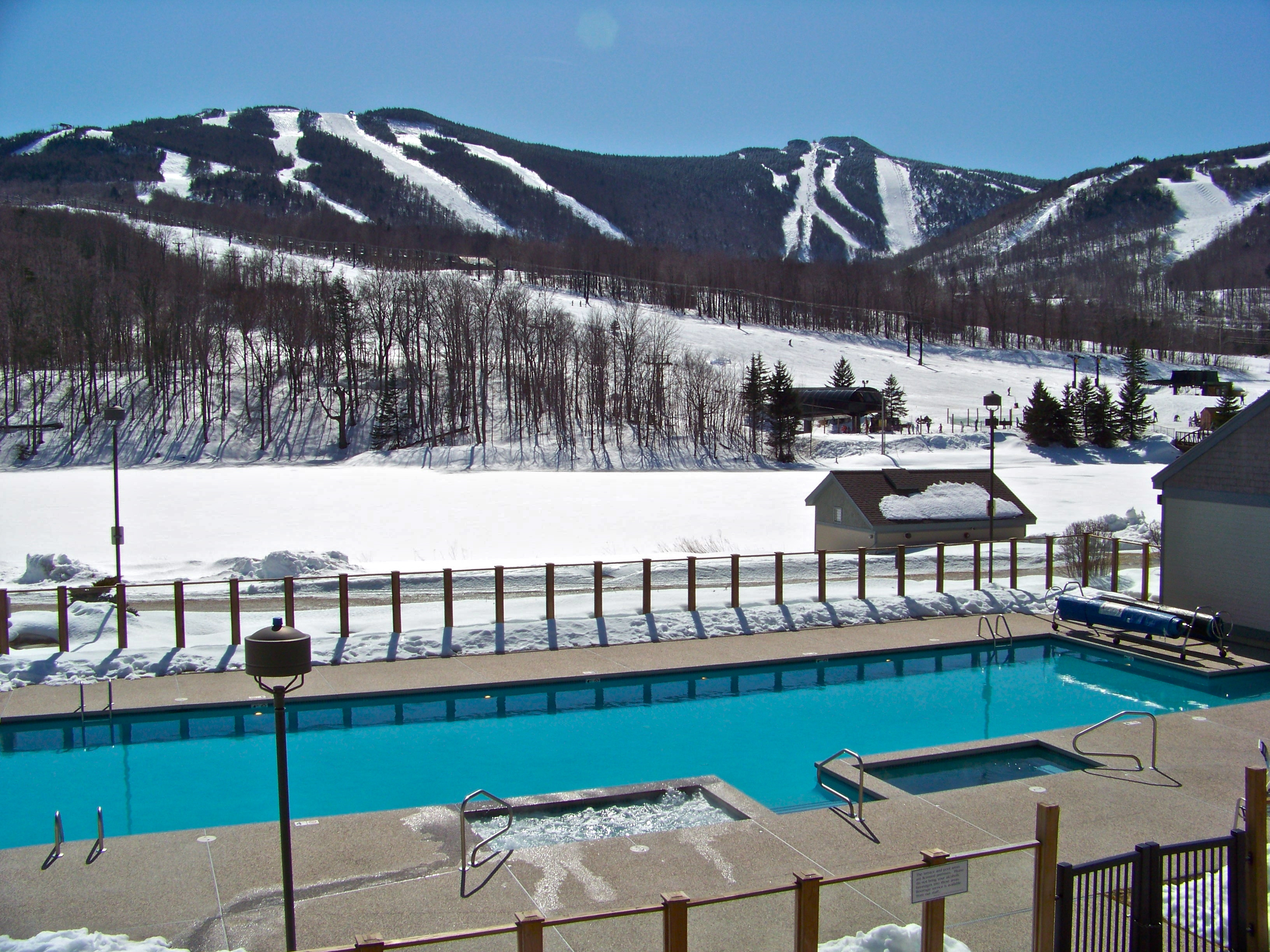 Go for a swim after skiing.