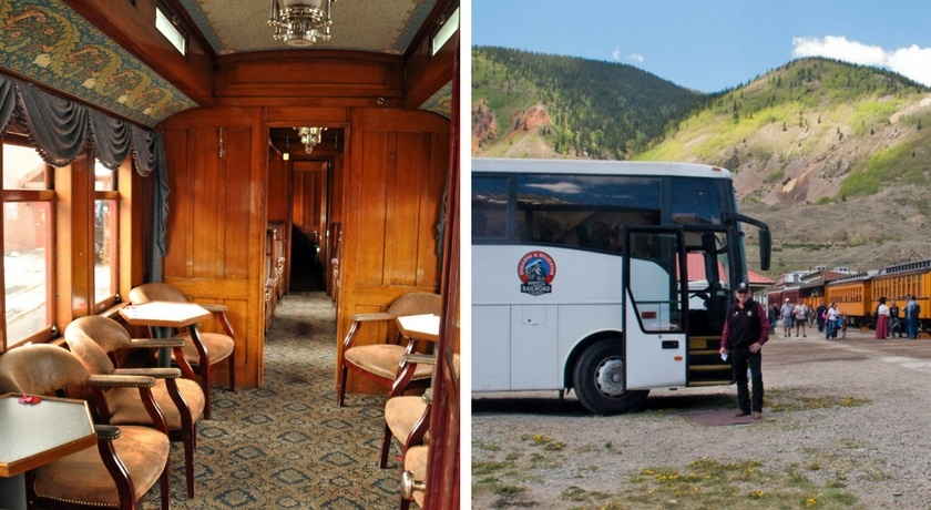 Take the Presidential Car up to Silverton and the Bus back to Durango