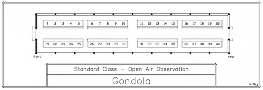 Seating Chart - Open Gondola