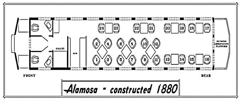 Seating Chart- Alamosa Parlor Car