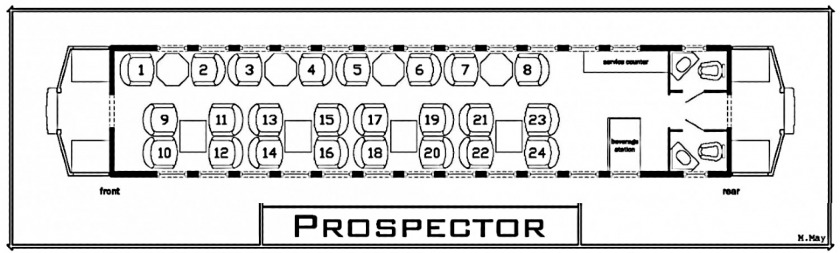 Seating Chart- Prospector Car