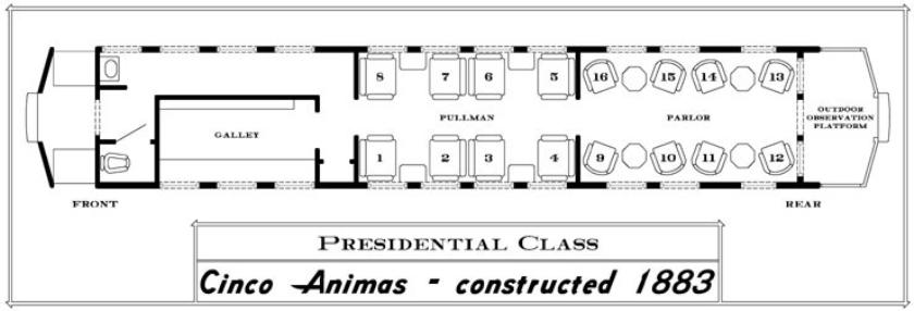 Seating Chart- Cinco Animas Car