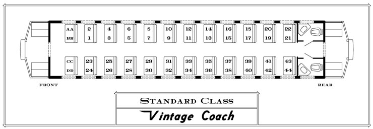 Closed Vintage Coach Seating