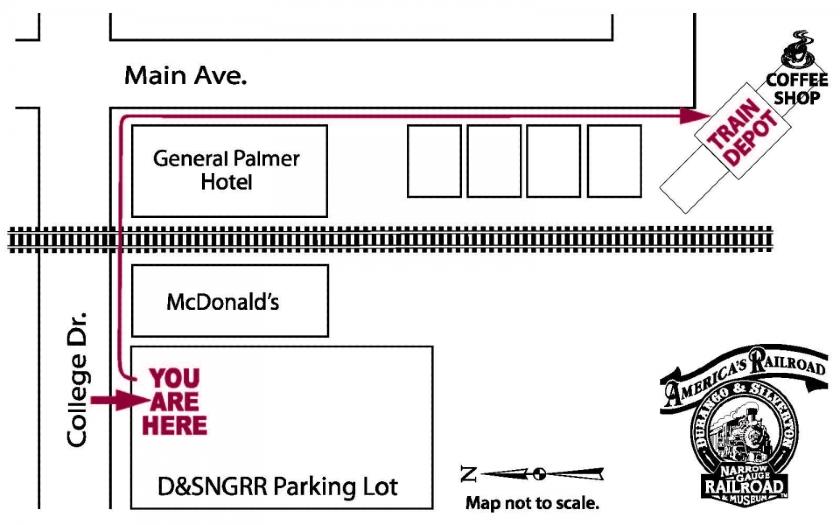 Durango Train Parking Lot to Depot