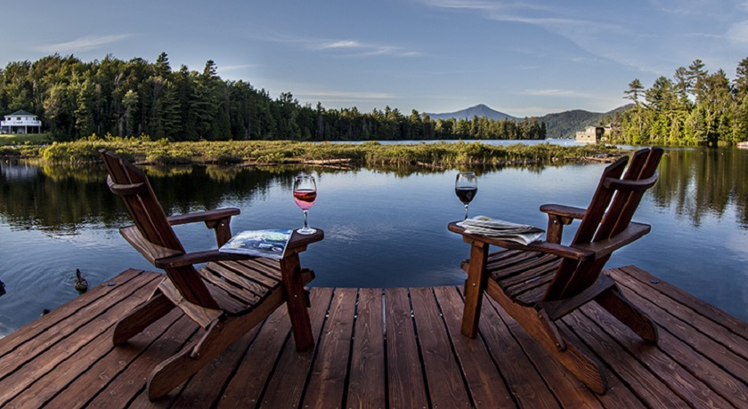 Relaxing on Lake Placid
