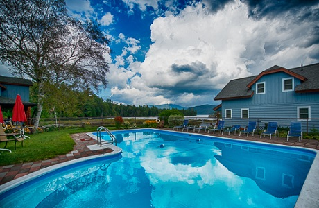 Our pool & Lakefront cottages