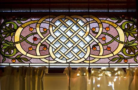 Historic Adams House Dining Room Stained Glass - Deadwood SD