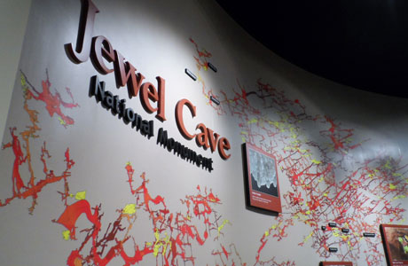 At present, Jewel Cave measures over 190 miles in length.  A wall map and touchs