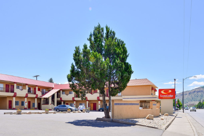 Exterior of the motel