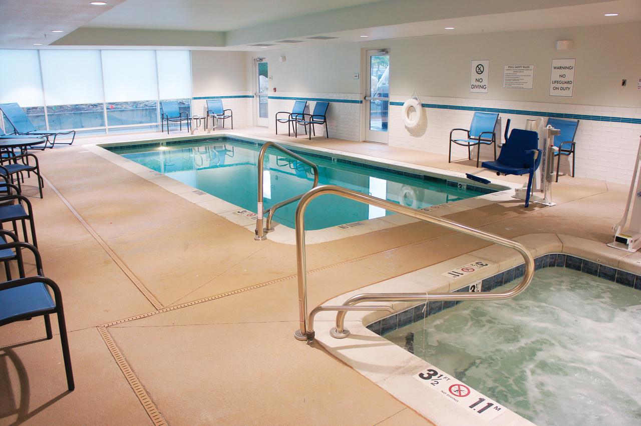 Indoor hot tub and heated pool