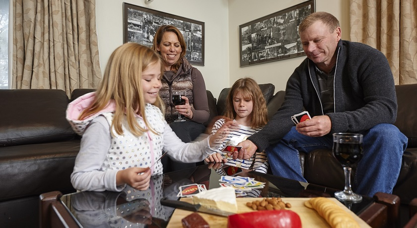 Enjoy family time in the lounge at Cawarra Ski Club Accommodation Mt Buller