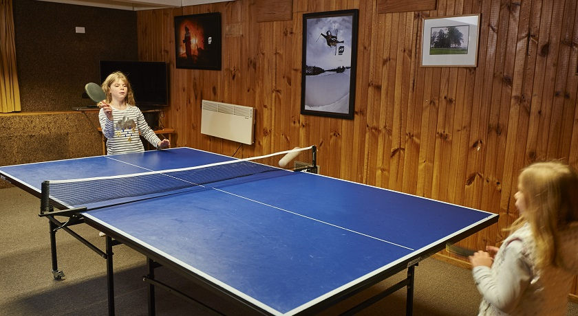 Table Tennis in the games room at Cawarra Ski Lodge Mt Buller