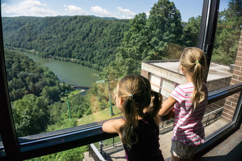 Gorge view from Hawks Nest Lodge
