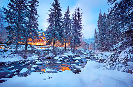 Resort along picturesque Gore Creek