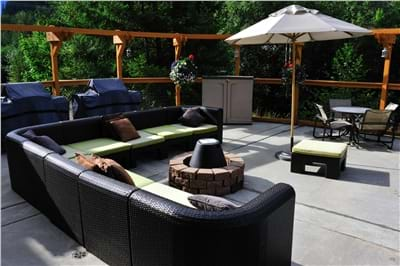 Pool Deck & Fire Pit Area