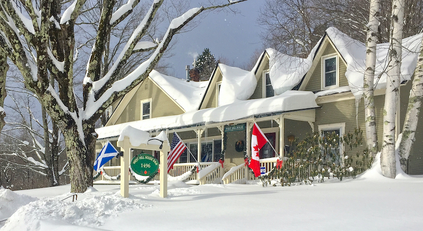 West Hill House B&B in winter