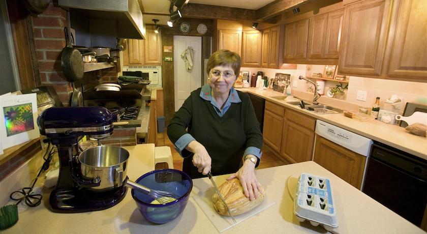 Susan preparing breakfast at West Hill House B&B