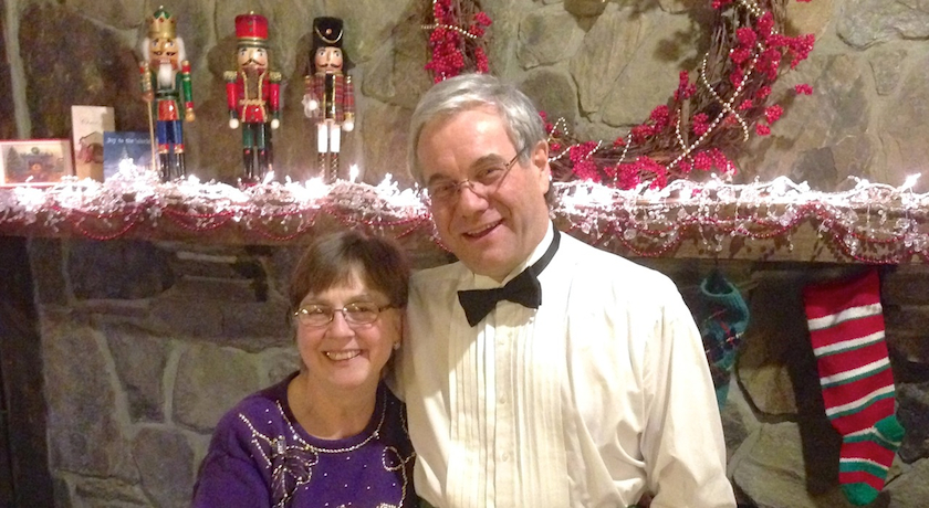 Susan & Peter—Christmas time at West Hill House B&B