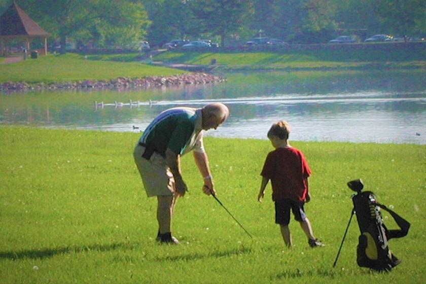 Family time at Lake Park