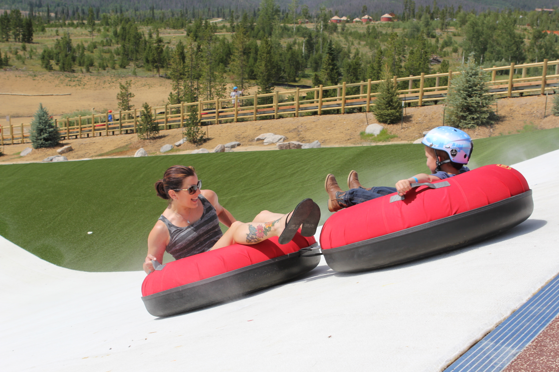 The ONLY Summer Tubing Hill in Colorado at Snow Mountain Ranch!