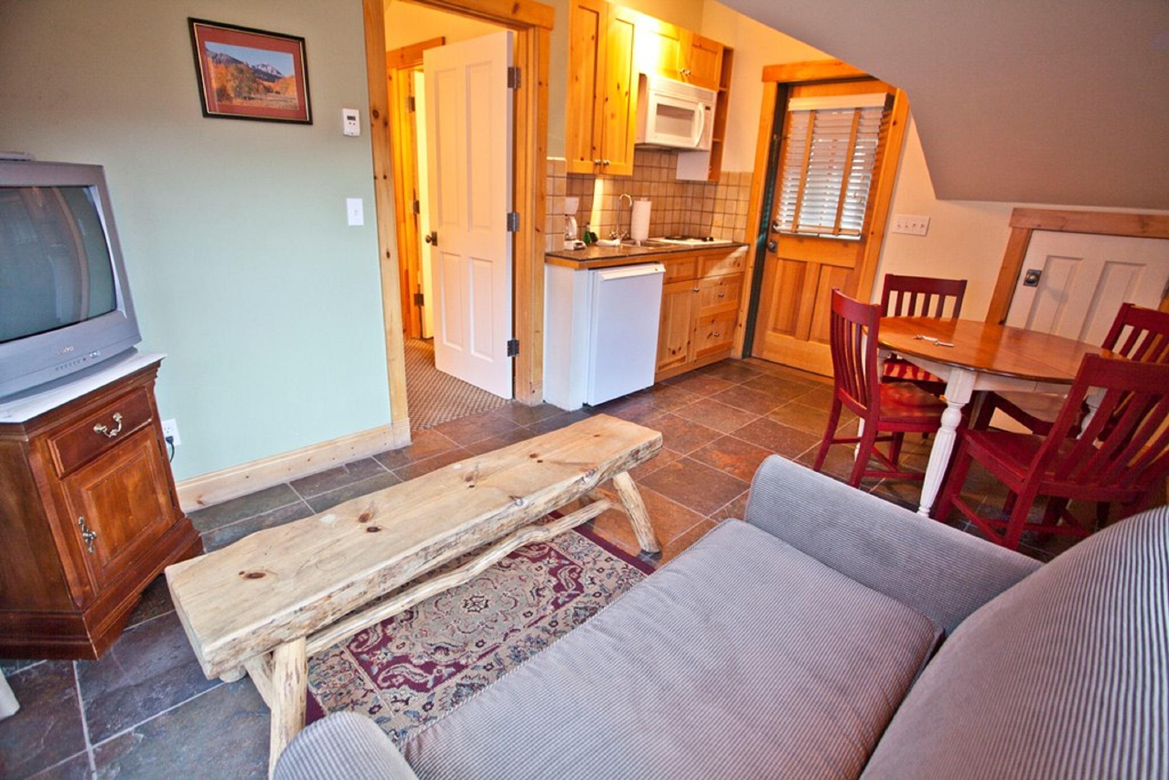 Montana Placer Inn, Unit 6 - Living Area, Small Deck