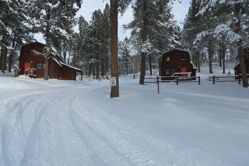 Trailshead Lodge Rentals is located on groomed Snowmobile Trail #1 - Lead SD