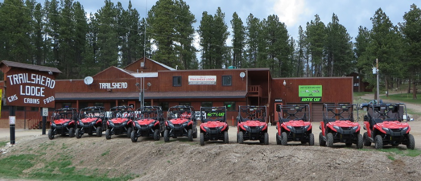 Trailshead Lodge Rentals has 2 and 4 passenger UTVs available - Lead SD